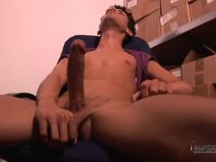 Deep Fuckers - Marco DuVaul Enjoys a Wank at Work With a Fleshjack