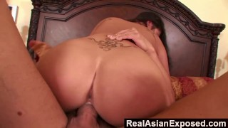 RealAsianExposed - Making London Keyes Big Tits Bounce  london keyes big ass cum on tits big tits riding babe asian blowjob cumshot hardcore realasianexposed doggystyle big boobs natural tits