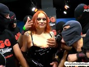 Extreme Bukkake - Dirty Mary the redhead Latex Queen