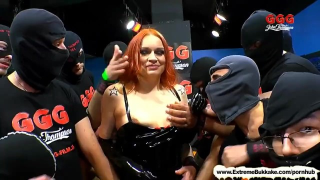 Sylar latex - Extreme bukkake - dirty mary the redhead latex queen