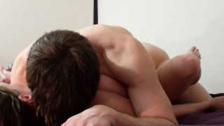 Ashley Takes A Huge Cock In Her Ass, Foreplay & Point-Of-View Anal Sex HD!!