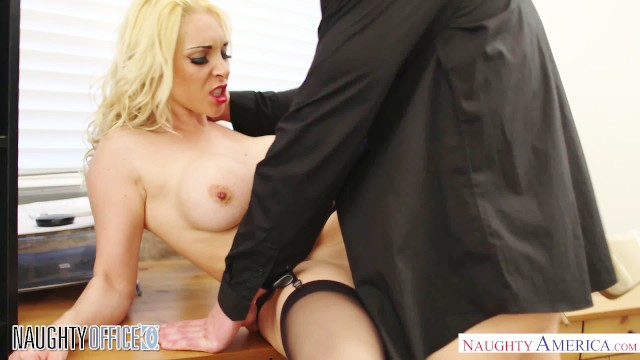 Busty British babe Victoria Summers fucks for a promotion Naughty America