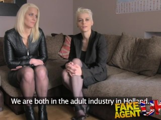 Talking Sex Tube FakeAgentUK Anal threesome on the casting couch