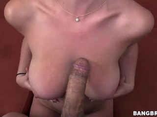Big natural tits handjob and cumshot facial