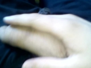 Playing With My Hairy Uncircumcised Cock
