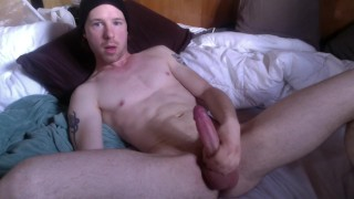 check out my blue eyes as i get rid of morning wood