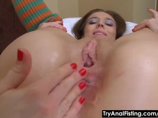 Try Anal Fisting - Lesbian fist-fucking with lube