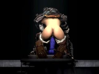 Big sis on a big dick (old animation)