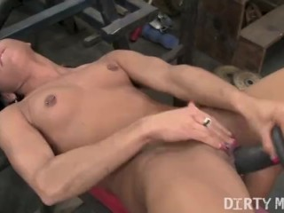 Wife Sex Pix Fucking, VitA Masturbates In the Gym Masturbation Toys Small Tits