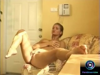 Cutie Rita Falyotano caressing her tight shaved clit