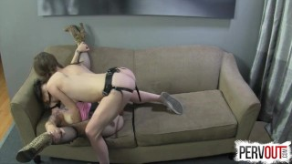 Best Break Up Therapy EVER (STRAP-ON, GROUP SEX, HYPNO) lux orchid pegging 3some pervout anya olsen kink femdom-strapon big ass strapon natural-tits bubble-butt group-sex hypno ashley fires small-tits lance-hart brunette fishnets ex girlfriend