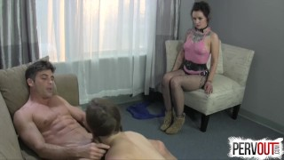 Best Break Up Therapy EVER (STRAP-ON, GROUP SEX, HYPNO)  big ass femdom strapon ex girlfriend pegging pervout strapon hypno small tits fishnets lux orchid kink brunette 3some group sex natural tits bubble butt ashley fires lance hart anya olsen