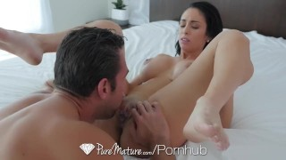 PureMature - Jackie Wood seduces her trainers cock