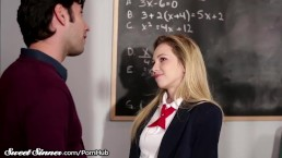Schoolgirl plays Game with Dirty Teacher