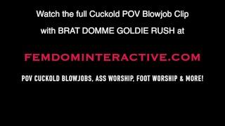 Goldie Rush POV Cuckold Blowjob