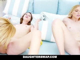 DaughterSwap – Lesbians Teens Get Swapped and Licked by Moms