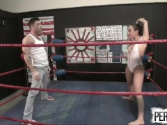 NO RULES Wrestling with Roxanne Rae + Lance Hart (Strapon, Fucking, Switch)