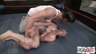 NO RULES Wrestling with Roxanne Rae + Lance Hart (Strapon, Fucking, Switch)  strap on mixed wrestling sex roxanne rae pegging strapon humiliation wrestling domination kink brunette sweetfemdom ball squeeze switch lance hart