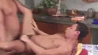 Ass Fucking Latinos Ends With Cumshots  latino twunk men muscle gay sex hardlatingays ass fucking bareback cumshot wanking blowjobs kitchen