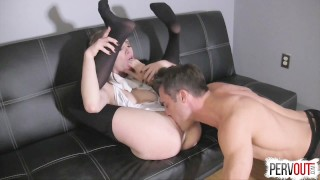 Anya Olsen Gets Hers with Lance Hart (CreamPie Eating, Switch Dom)  creampie eating pussy eating orgasm post orgasm torture lance hart kinky sex cross dressing creampie small tits fishnets pantyhose leotard sweetfemdom sensual femdom pussy licking orgasm switch choking anya olsen