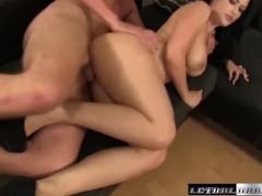 Katrina Jade gets a rough fuck cum on tits