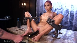 Cute Alt Girl Takes Brutal Device Torment devicebondage torment domination tight-pussy chains alternative metal kink squirting tease bdsm punish sadist masochist perky-tits adult-toys