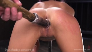 Cute Alt Girl Takes Brutal Device Torment Tits shaved