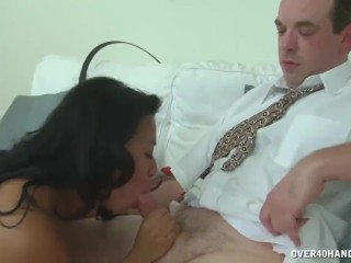 Asian mature masseuse cock treatment
