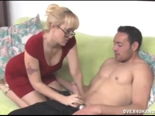 Porno cowboy blonde milf wants this prick over40handjobs mom mother blonde handjob
