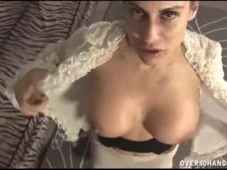 Brunette milf loves this dick