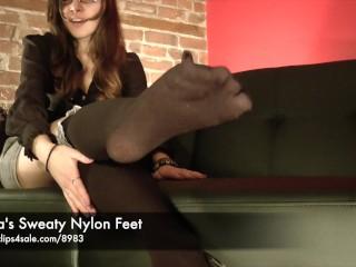 Nina's Sweaty Nylon Feet - www.clips4sale.com/8983/15799968