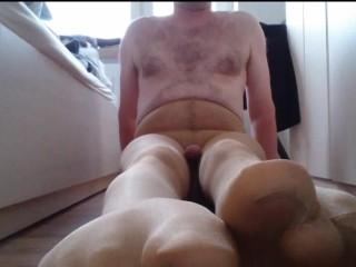 Strumpfhosen Masturbation