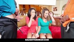 Daughter Swap - Dochters krijgen seksles van papa's beste vriend
