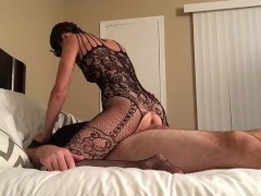 Hot young MILF costume play with Creampie
