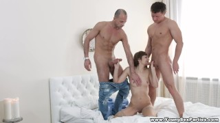 Young Sex Parties Double fucking anal threesome