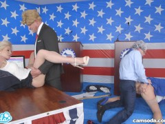 donald trump and hillary clinton fucking bernie sanders and megan parody