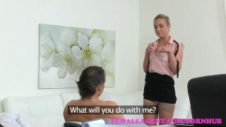 FemaleAgent Muscular studs cock pleasures agent