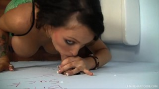 Pornstar Jenna Presley sucks HUGE cock in bathroom gloryhole  big tits big cock hd gloryhole pornstar skinny hardcore brunette pornstars lethalhardcore xxx facial big boobs lethal hardcore