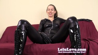 Financially dominating and cuckolding you in my catsuit  homemade tease cuckolding hd humiliation point-of-view catsuit femdom amateur solo pov fetish domination natural-tits brunette lelulove lelu-love lipstick