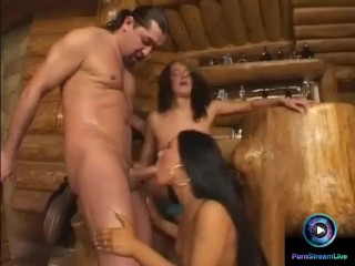 Valentina Velasquez and Andy Brown sucking big dick like a pro