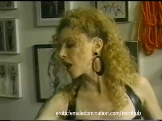 Really hot blonde learns that only the mistress calls the shots