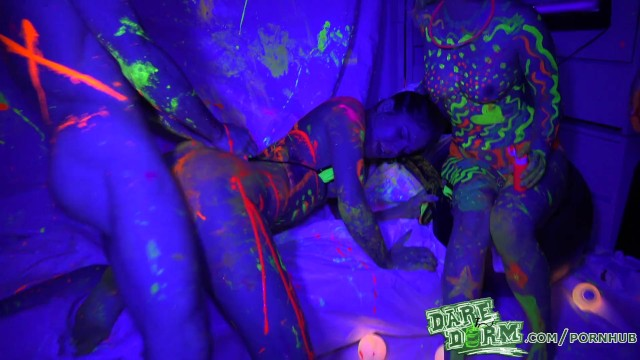 Free dare dorm video college porn Daredorm - glow party fuckfest