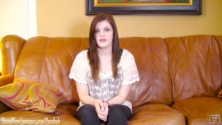 Teen with braces fucked hard on casting couch