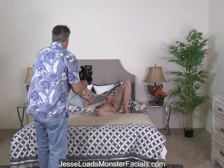 BTS 1 - Sexy Jillian Janson wakes up horny and pleases herself with toys