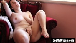 Busty Aeryn Masturbates For Orgasm