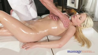 Preview 5 of Massage Rooms Czech blonde with big natural tits has intense orgasm