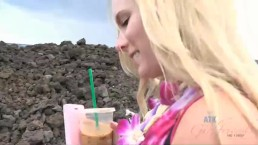 Elaina Raye has a great time visiting Haleakala volcano