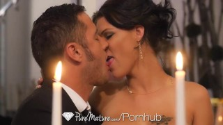 PureMature - Hot milf Peta Jensen candle lit dinner fuck