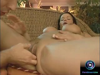 Bosomy Nicole proves how dirty she can be by sucking and riding huge cock