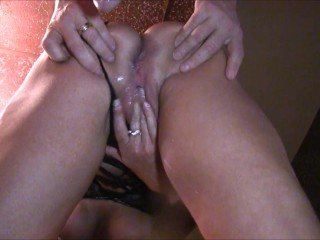 Extreme pussy to ass pounding w graphic anal gushing creampie (faffef)